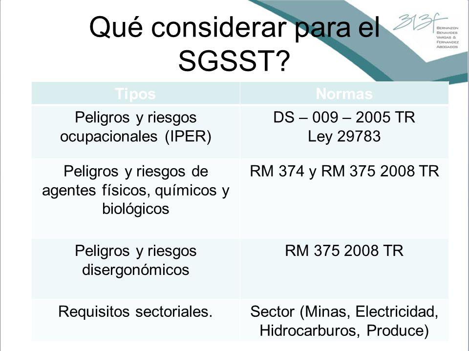Qué considerar para el SGSST