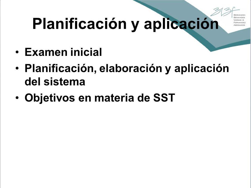 Planificación y aplicación