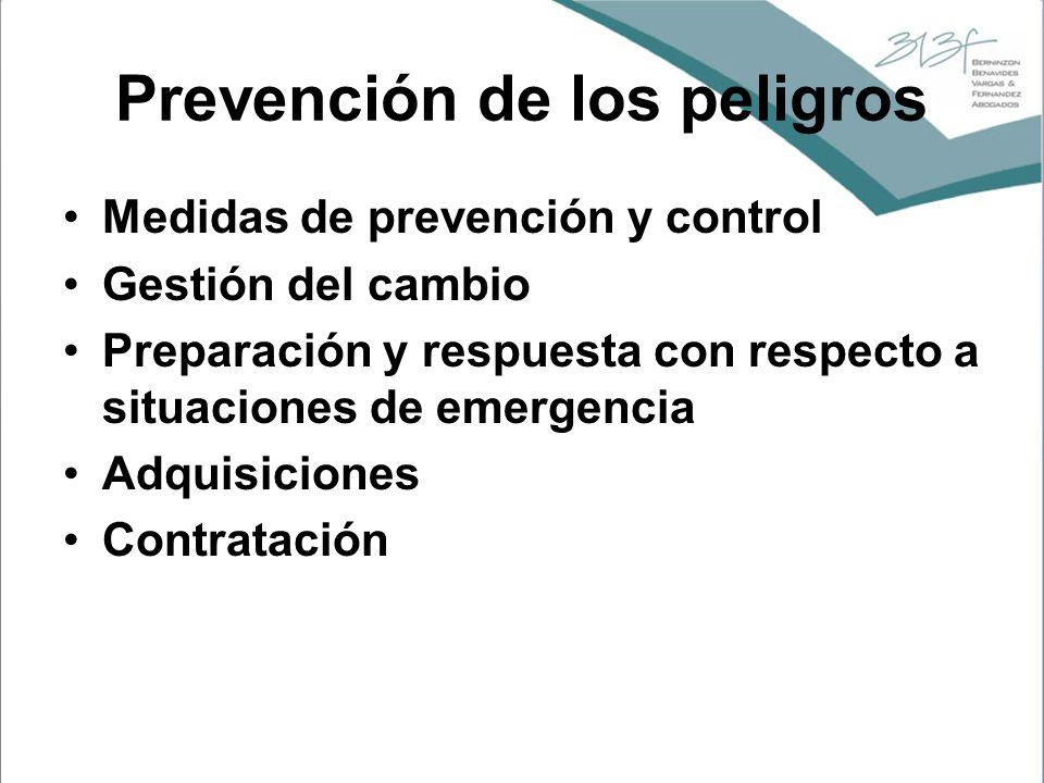 Prevención de los peligros