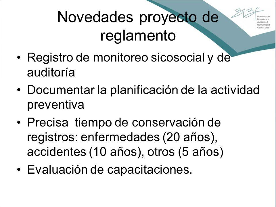Novedades proyecto de reglamento