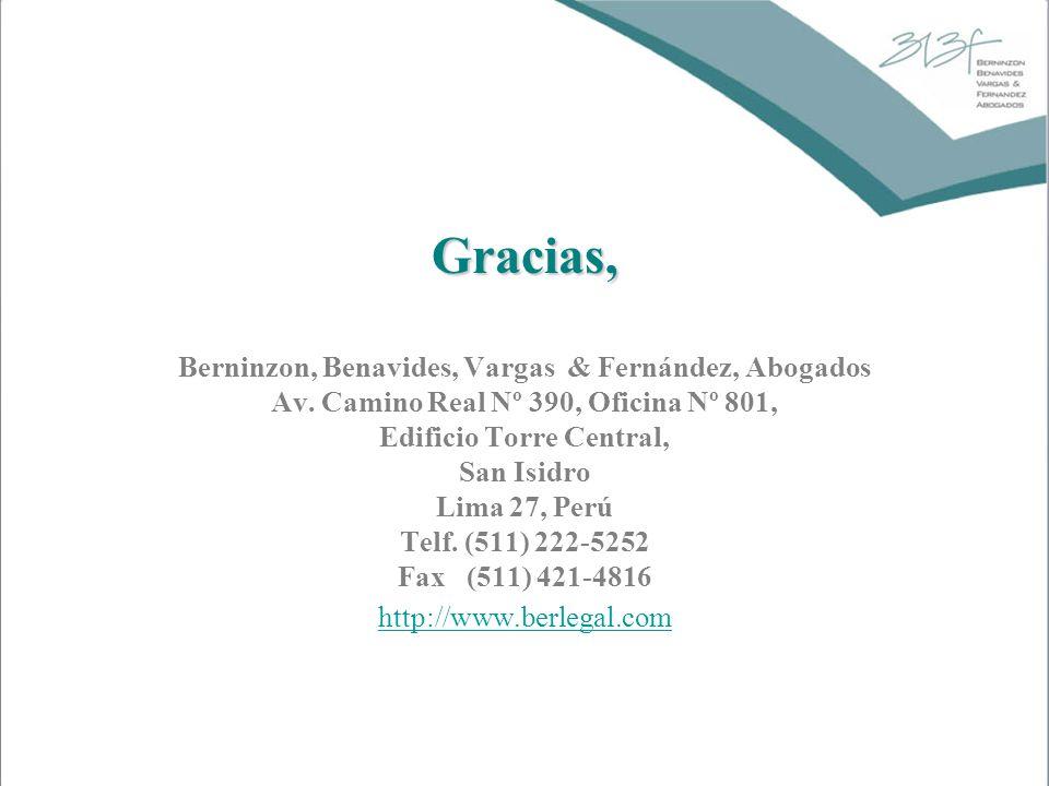 Gracias, Berninzon, Benavides, Vargas & Fernández, Abogados
