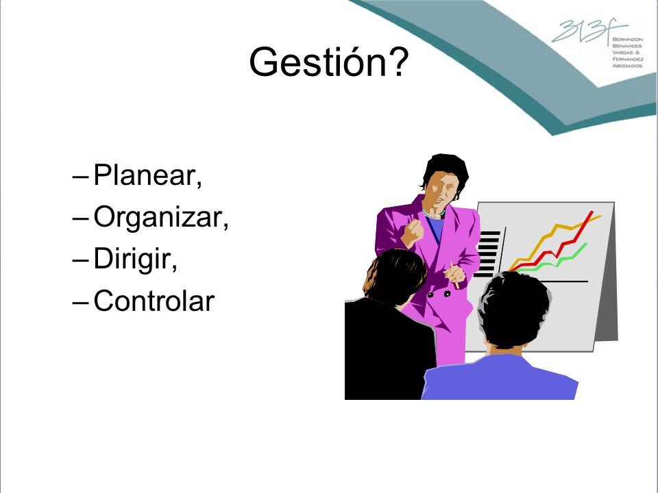Gestión Planear, Organizar, Dirigir, Controlar