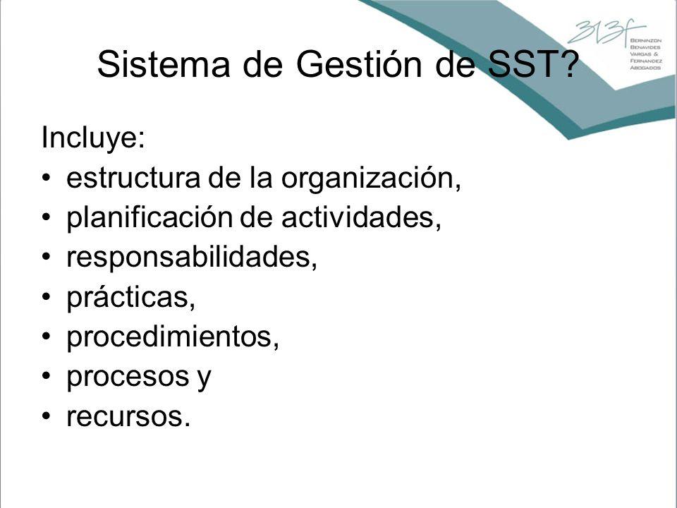 Sistema de Gestión de SST