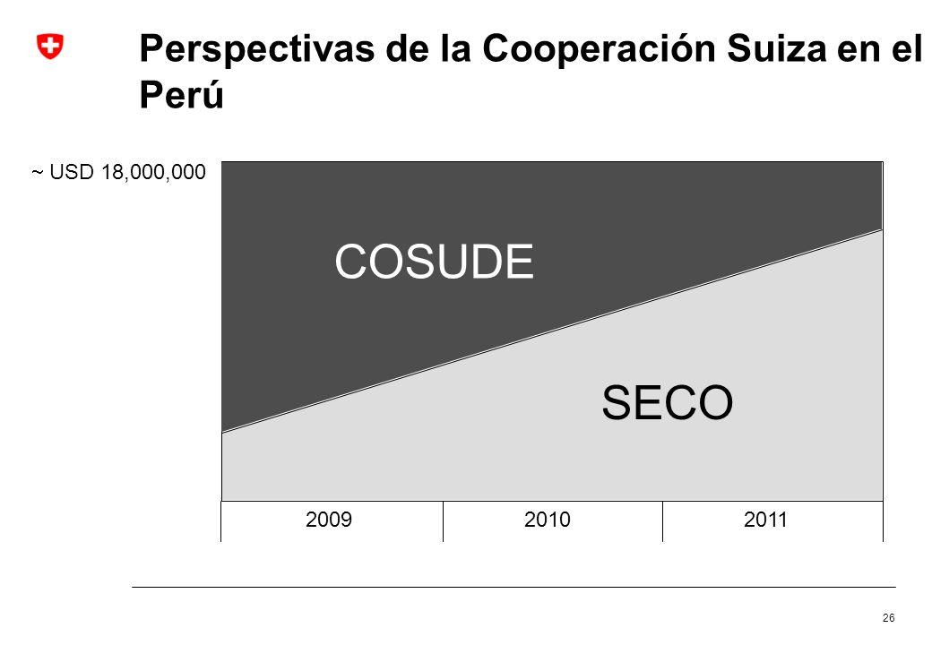 Perspectivas de la Cooperación Suiza en el Perú