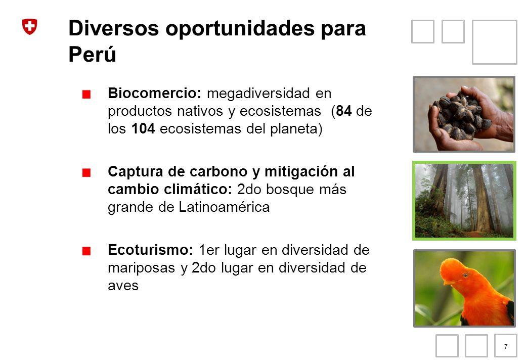 Diversos oportunidades para Perú