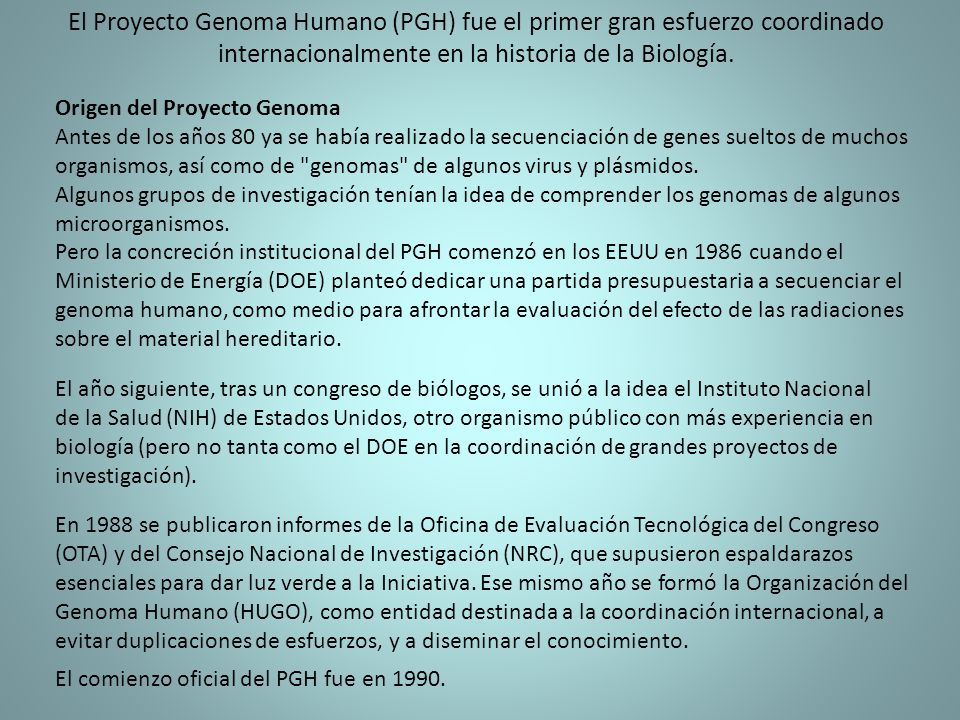Introduccion a la biotecnologia ppt descargar for En 2003 se completo la secuenciacion del humano
