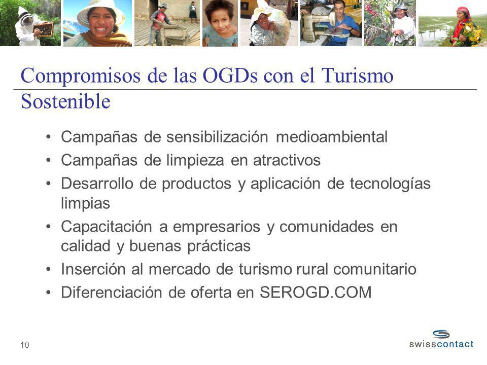 Compromisos de las OGDs con el Turismo Sostenible