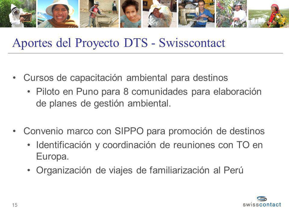 Aportes del Proyecto DTS - Swisscontact