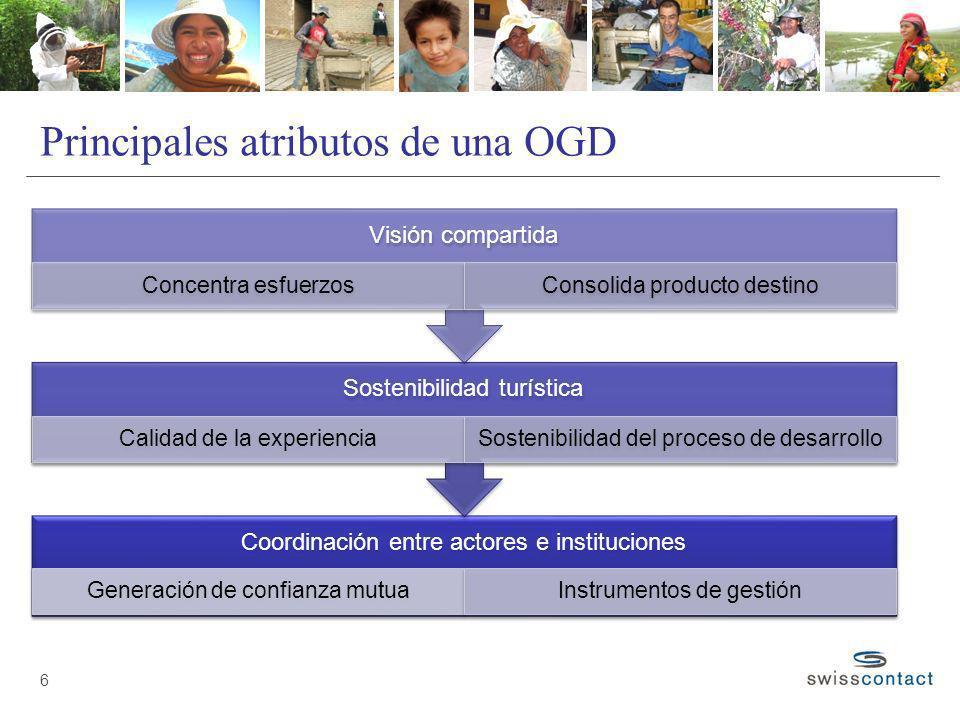 Principales atributos de una OGD