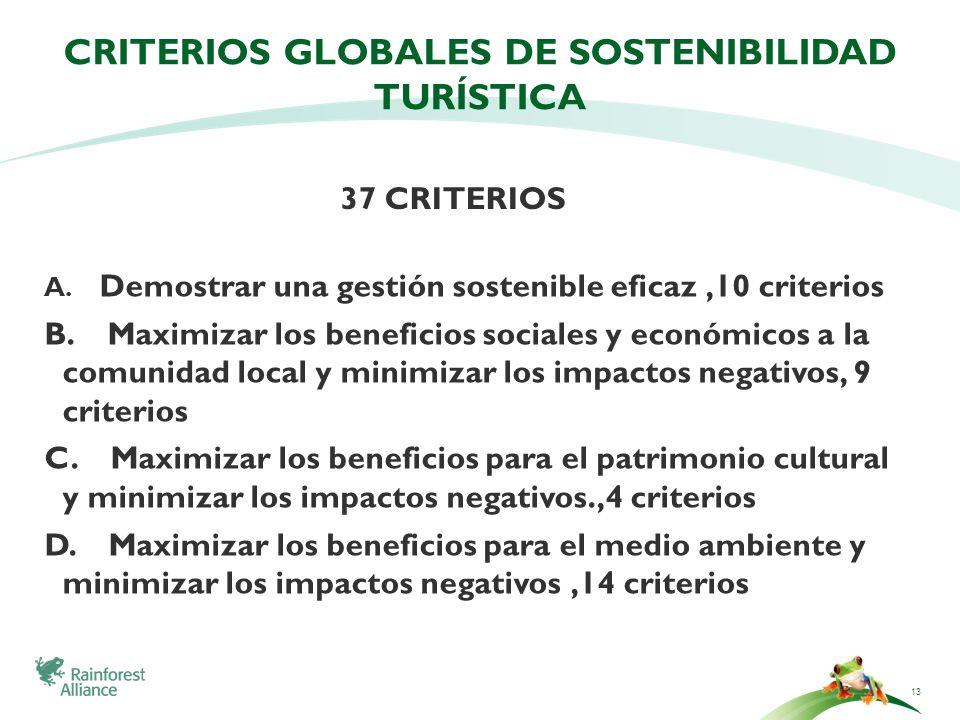 criterios globales de sostenibilidad turística
