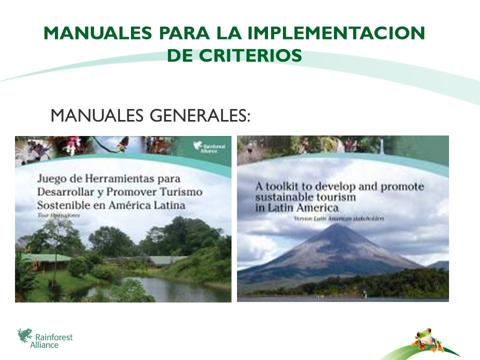 MANUALES PARA LA IMPLEMENTACION DE CRITERIOS