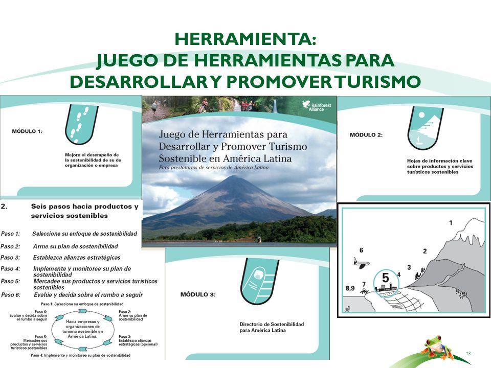 HERRAMIENTA: Juego de herramientas para desarrollar y promover Turismo Sostenible: Para prestatarios de servicios