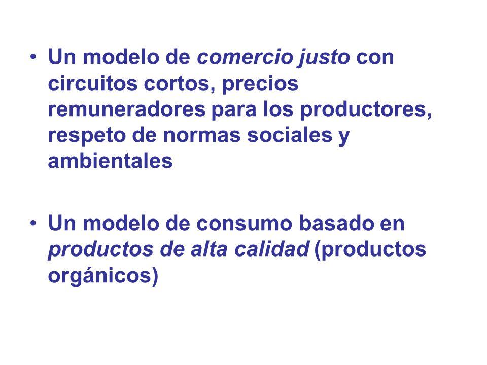 Un modelo de comercio justo con circuitos cortos, precios remuneradores para los productores, respeto de normas sociales y ambientales