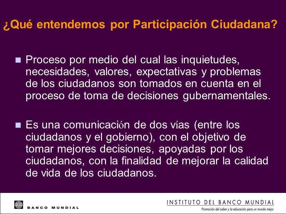 ¿Qué entendemos por Participación Ciudadana
