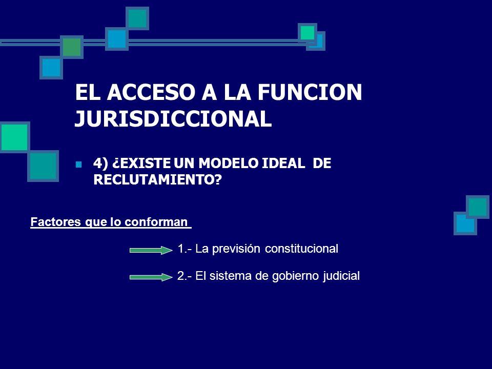 EL ACCESO A LA FUNCION JURISDICCIONAL
