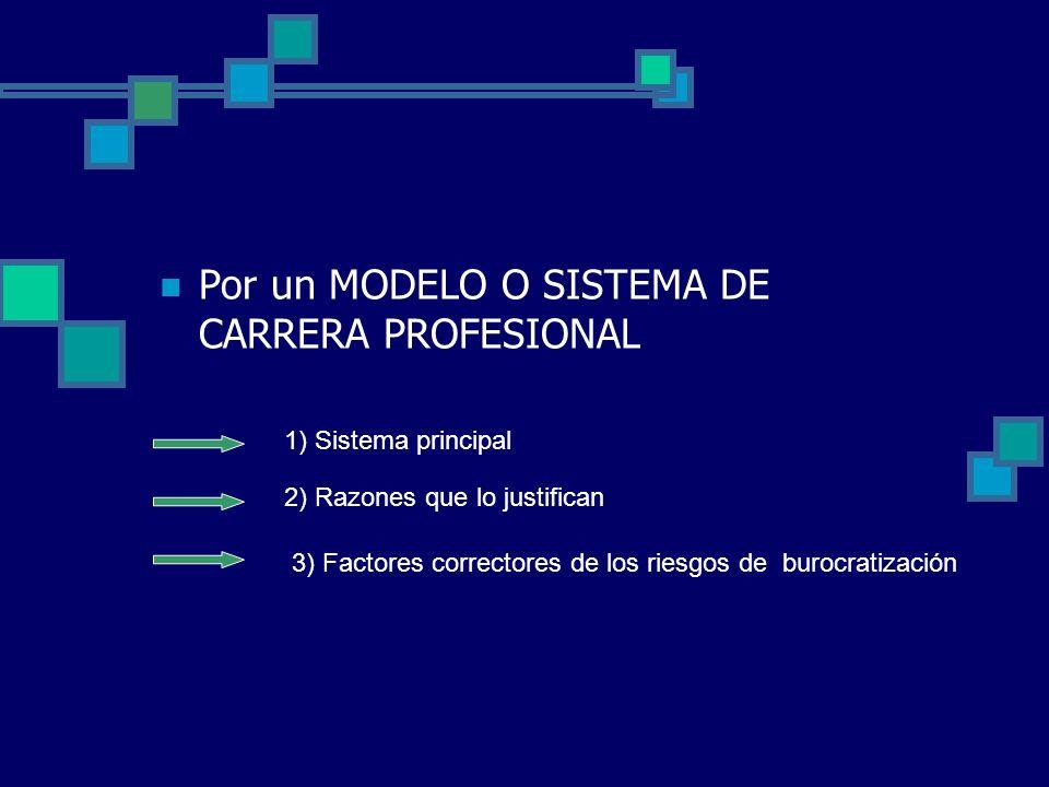 Por un MODELO O SISTEMA DE CARRERA PROFESIONAL