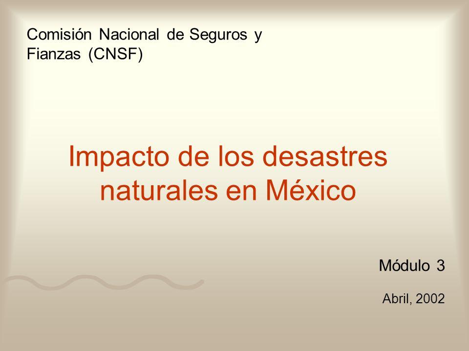 Impacto de los desastres naturales en México