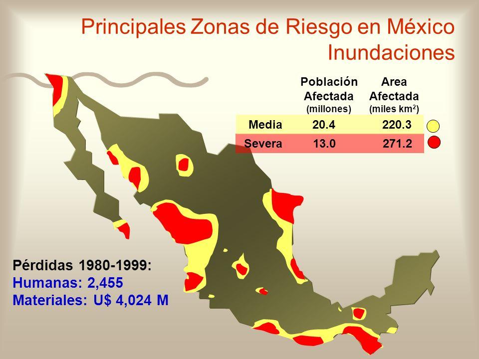 Principales Zonas de Riesgo en México Inundaciones