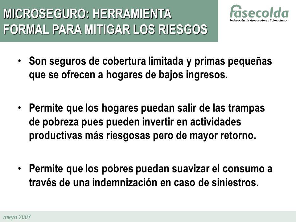 MICROSEGURO: HERRAMIENTA FORMAL PARA MITIGAR LOS RIESGOS