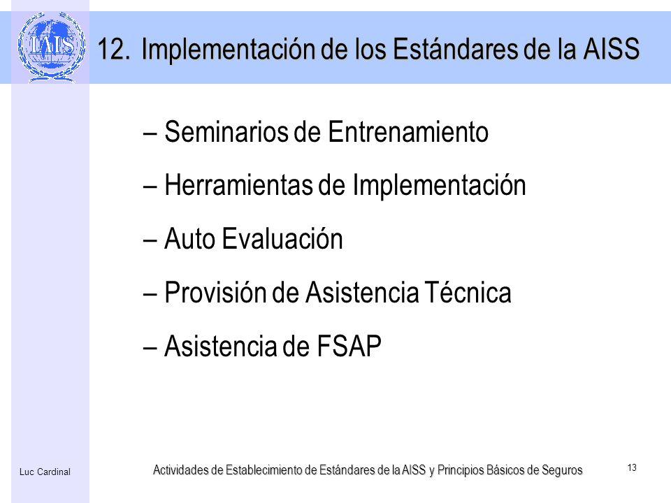Implementación de los Estándares de la AISS