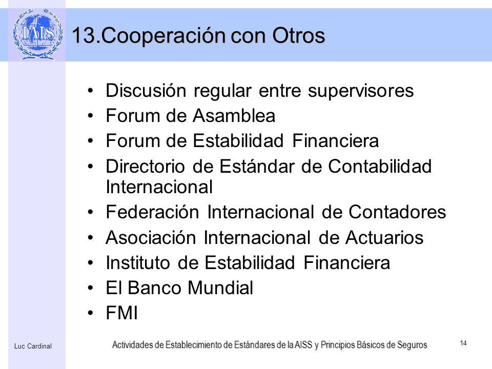 Cooperación con Otros Discusión regular entre supervisores