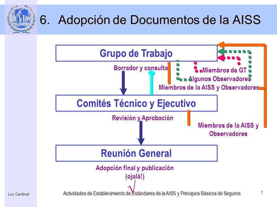 Adopción de Documentos de la AISS