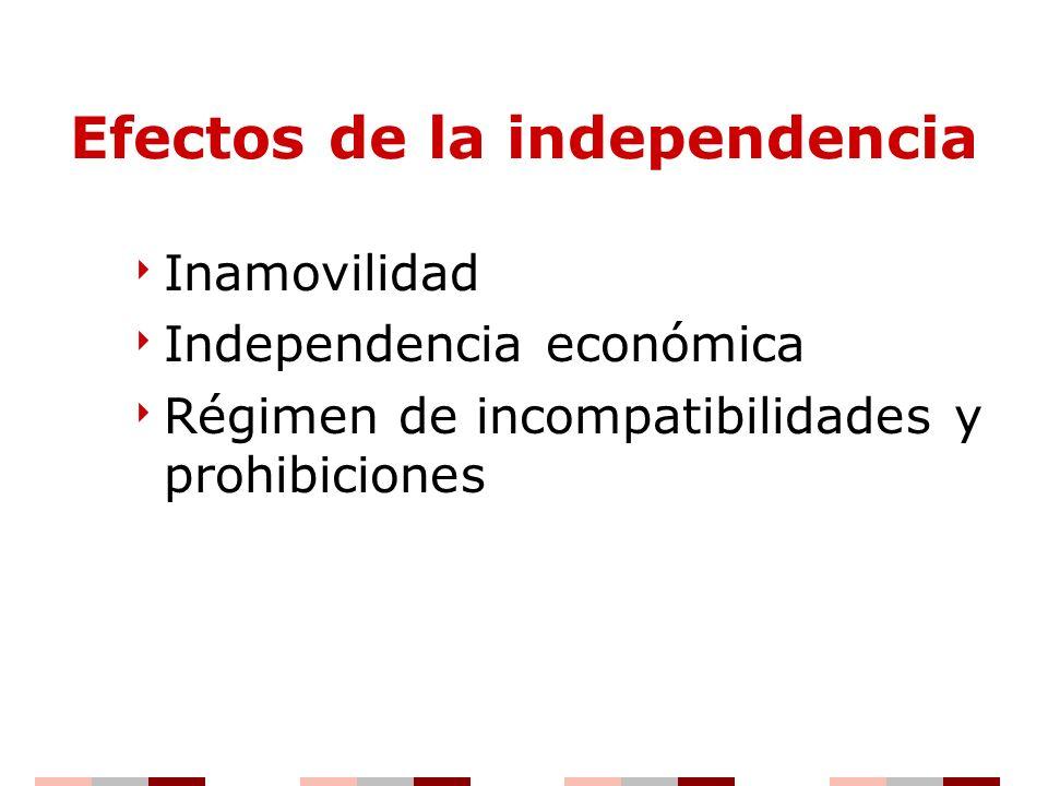 Efectos de la independencia