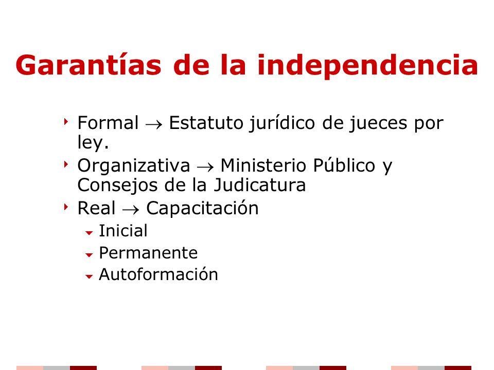Garantías de la independencia