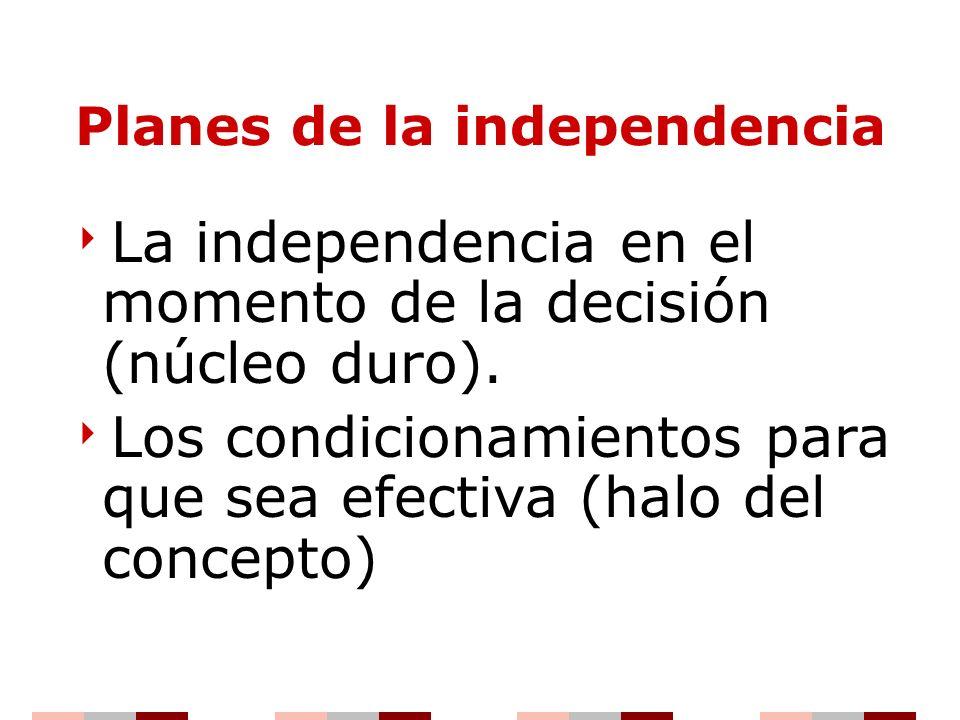 Planes de la independencia