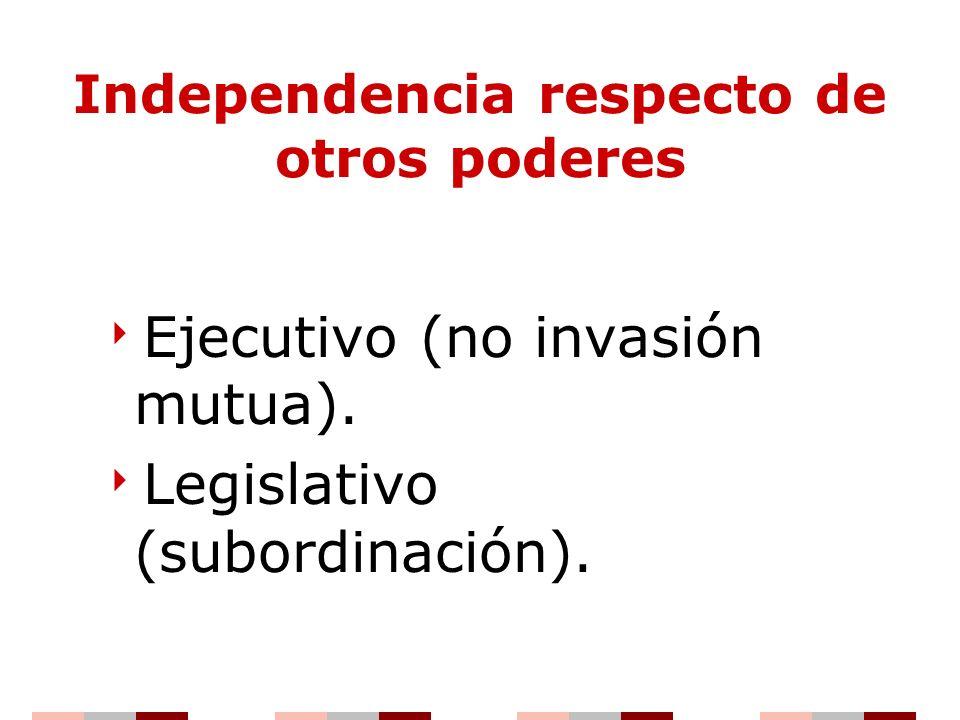 Independencia respecto de otros poderes