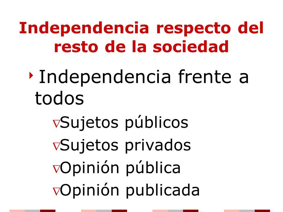 Independencia respecto del resto de la sociedad