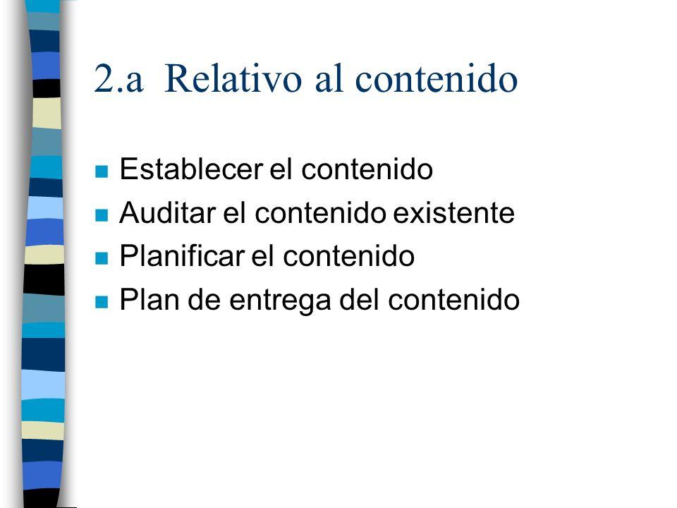 2.a Relativo al contenido