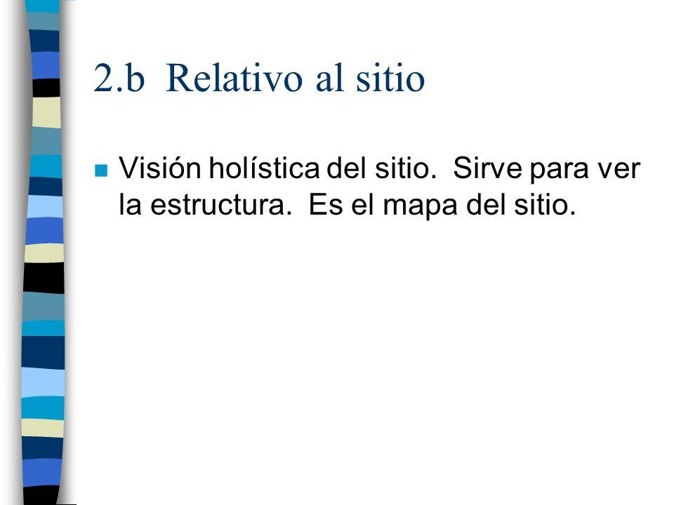 2.b Relativo al sitio Visión holística del sitio.