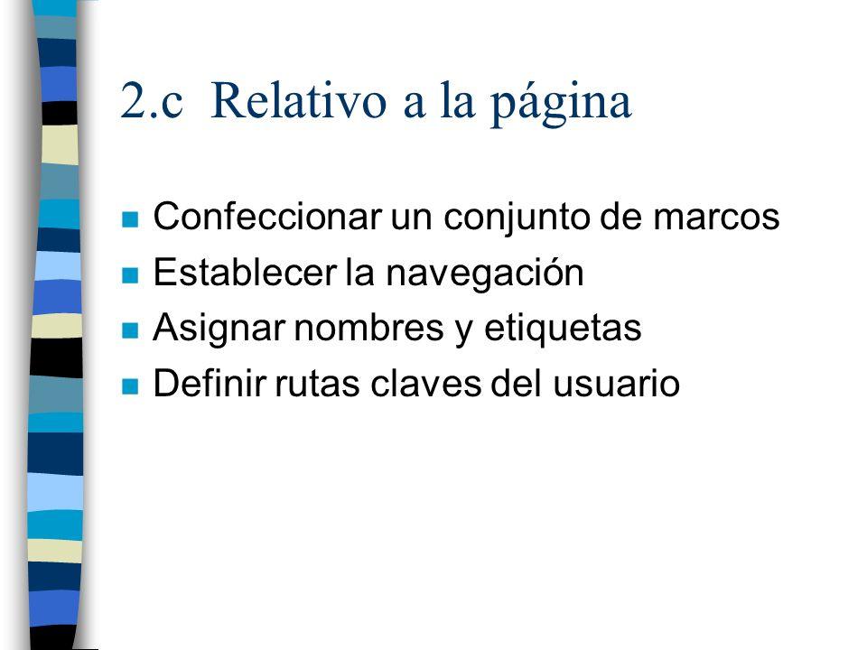 2.c Relativo a la página Confeccionar un conjunto de marcos