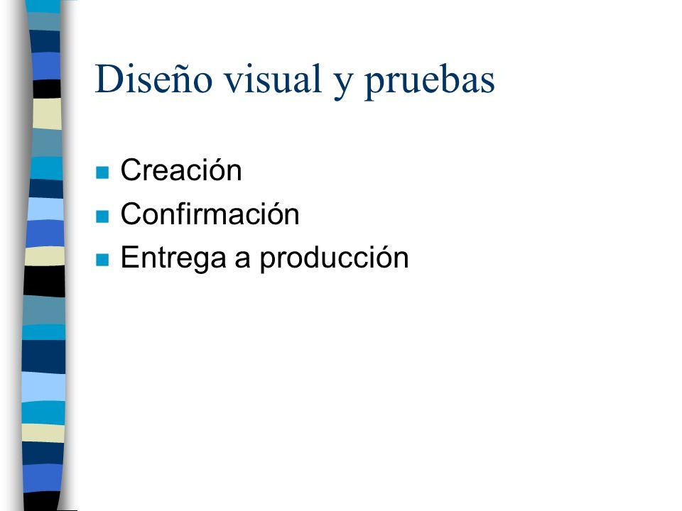 Diseño visual y pruebas