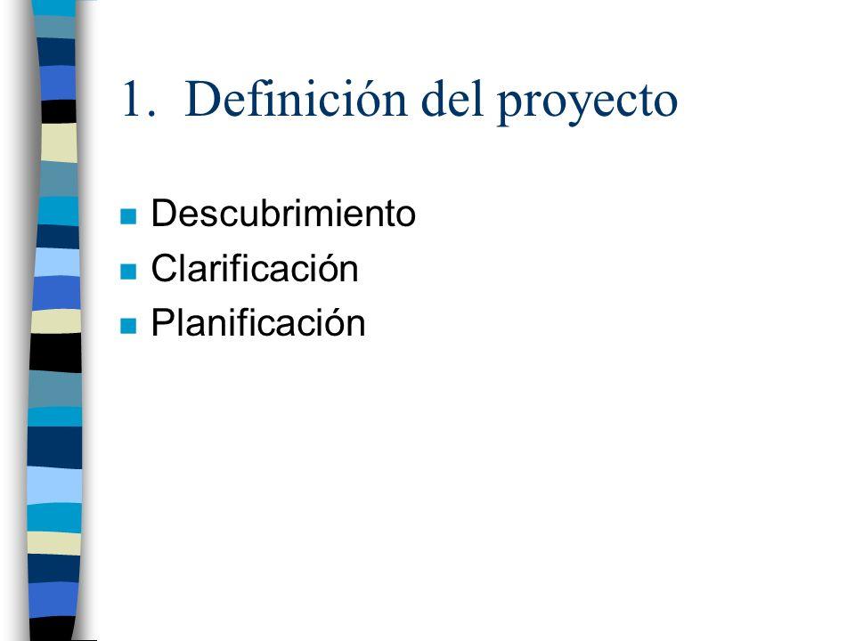 1. Definición del proyecto