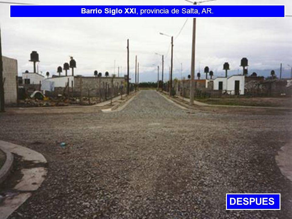 Barrio Siglo XXI, provincia de Salta, AR.