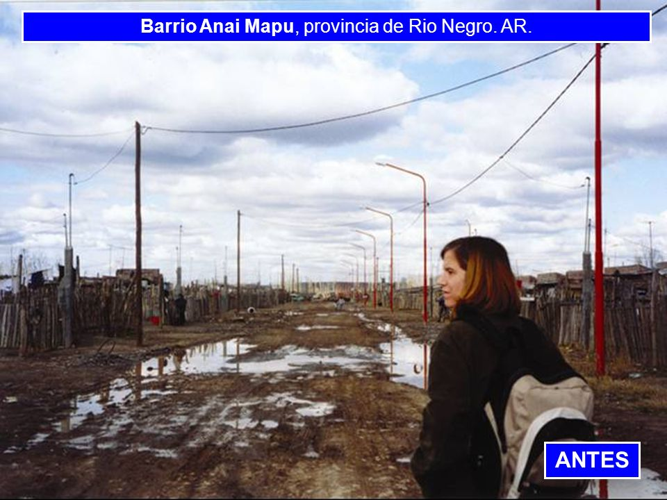 Barrio Anai Mapu, provincia de Rio Negro. AR.