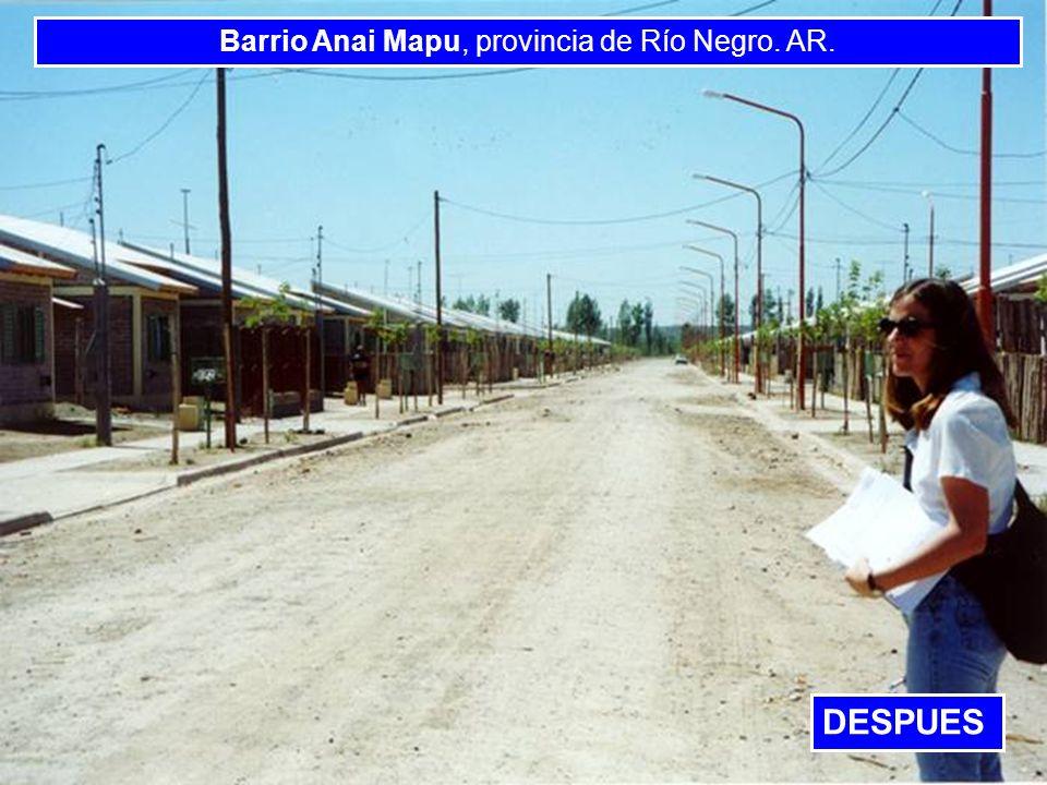 Barrio Anai Mapu, provincia de Río Negro. AR.
