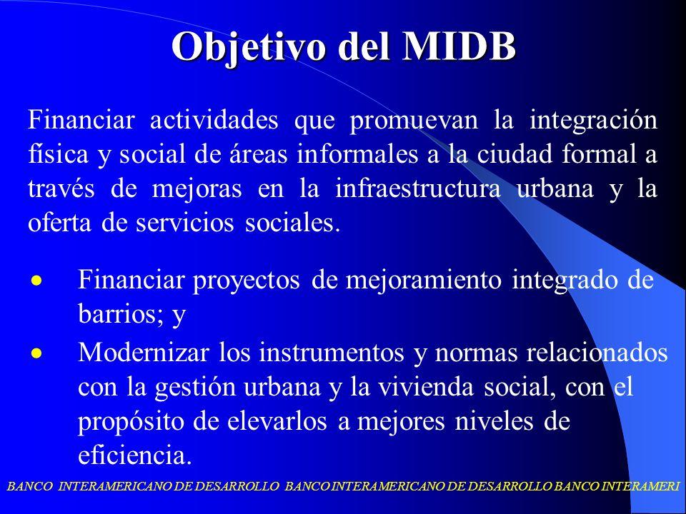Objetivo del MIDB
