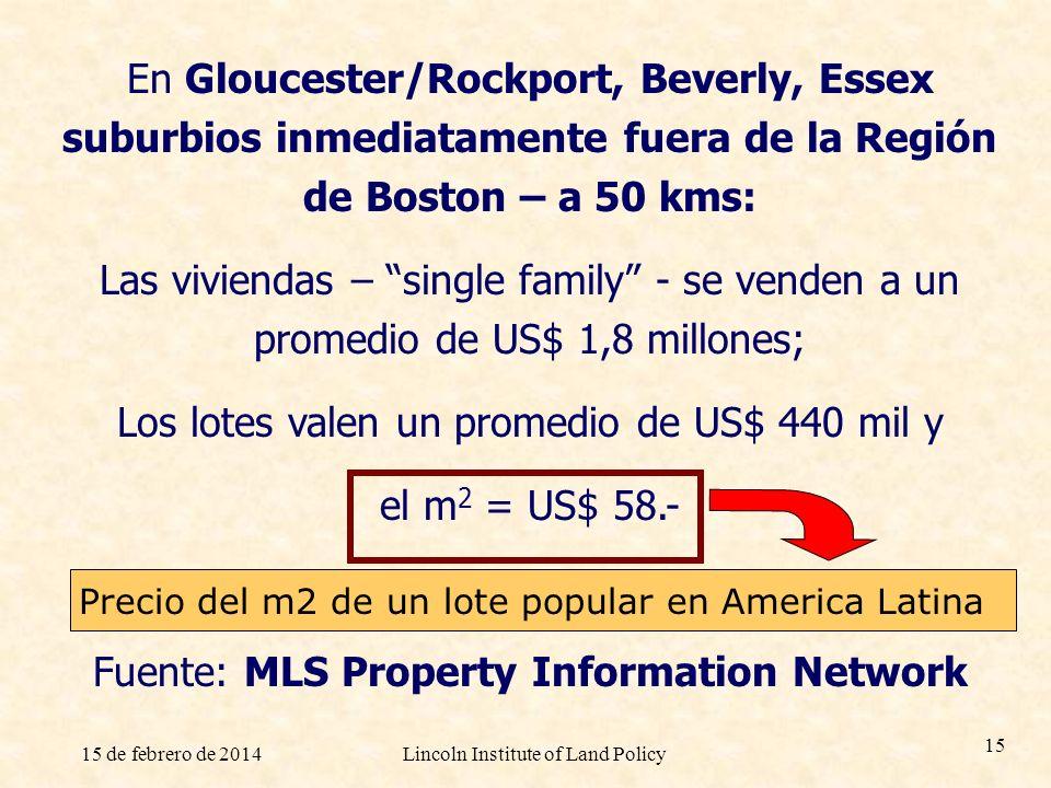 Los lotes valen un promedio de US$ 440 mil y el m2 = US$ 58.-