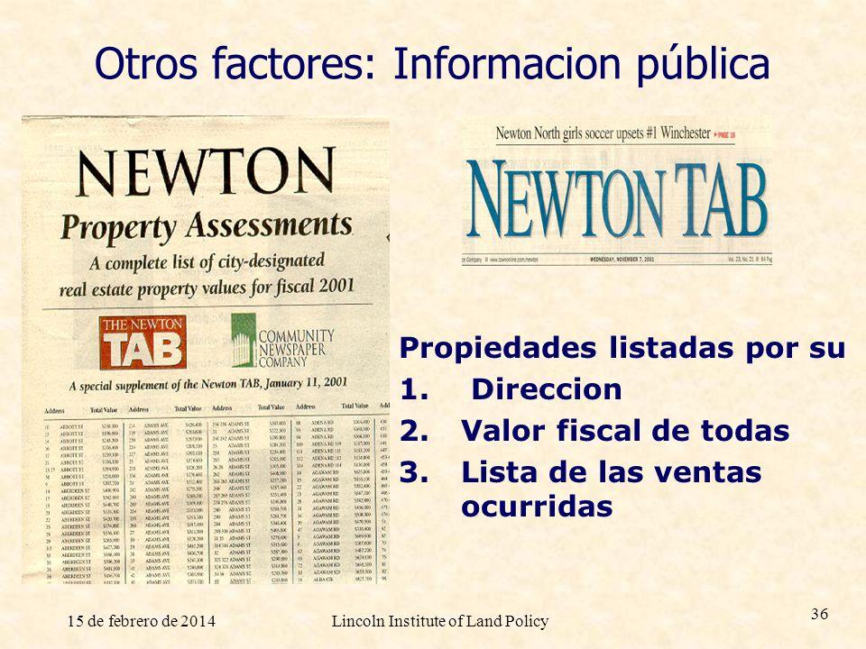 Otros factores: Informacion pública