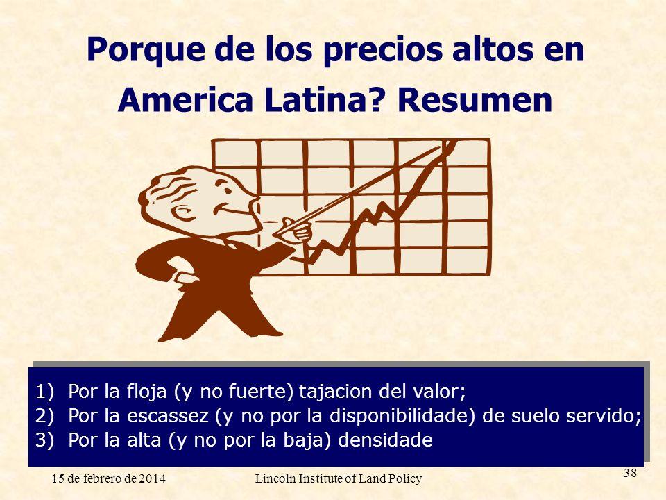 Porque de los precios altos en America Latina Resumen