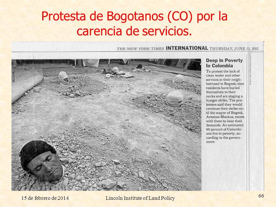 Protesta de Bogotanos (CO) por la carencia de servicios.