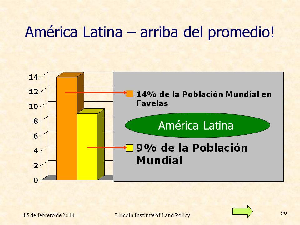 América Latina – arriba del promedio!