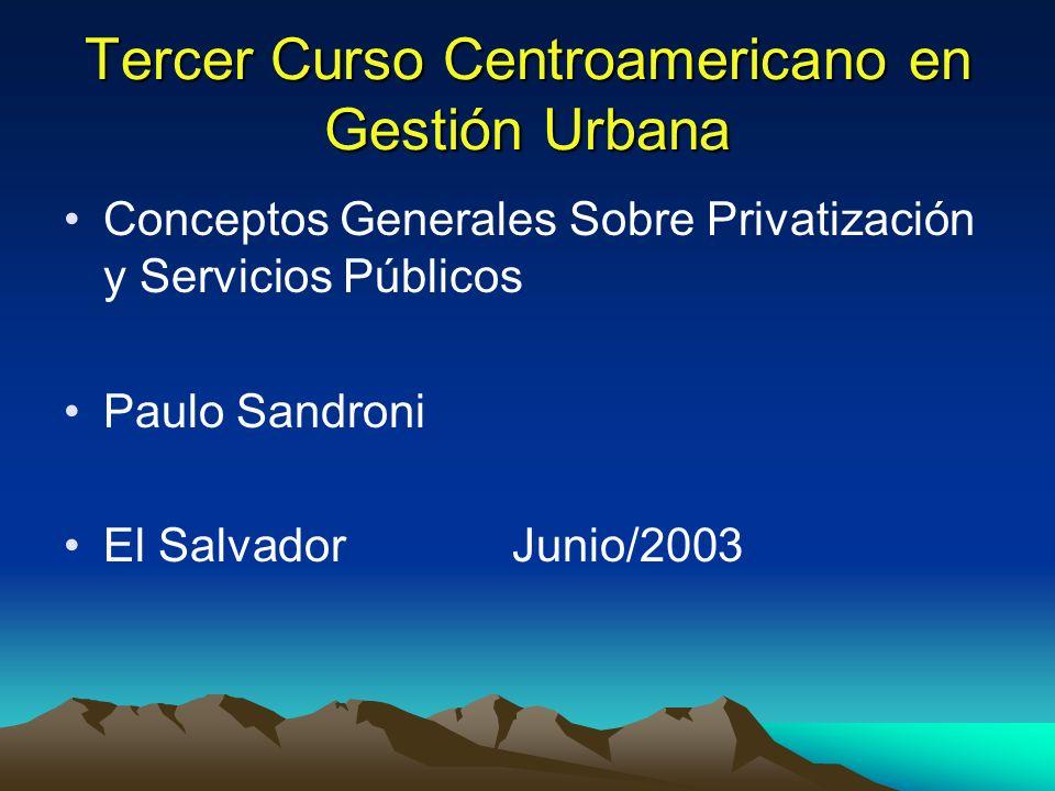 Tercer Curso Centroamericano en Gestión Urbana