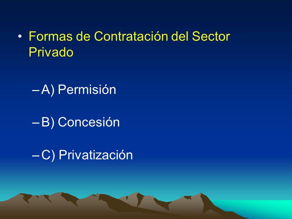 Formas de Contratación del Sector Privado