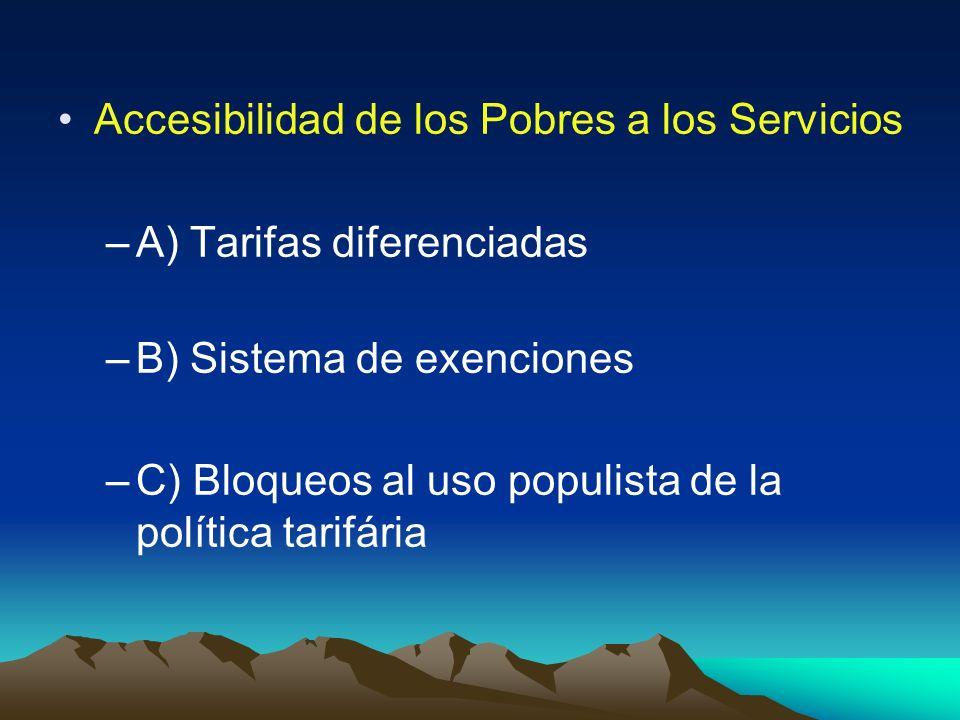 Accesibilidad de los Pobres a los Servicios