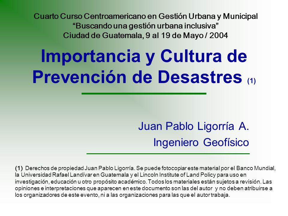 Importancia y Cultura de Prevención de Desastres (1)