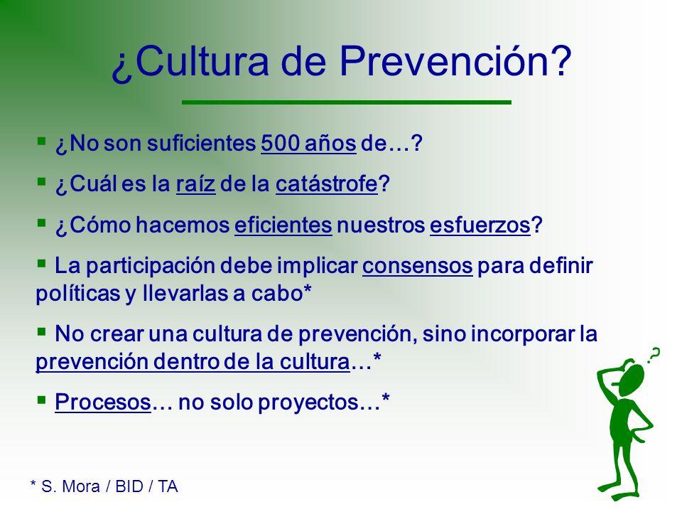 ¿Cultura de Prevención